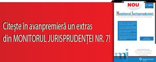 Extras - Monitorul jurisprudentei nr.7