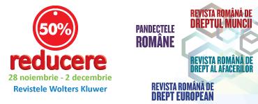 50% reducere la revistele Wolters Kluwer Romania