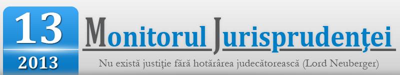 Monitorul Jurisprudentei nr. 13