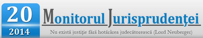 Monitorul Jurisprudentei  numarul 20