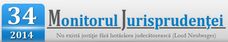 Monitorul Jurisprudentei nr. 34