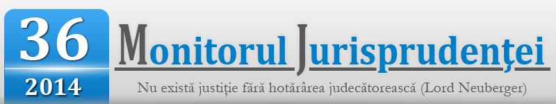 Monitorul Jurisprudentei nr. 36