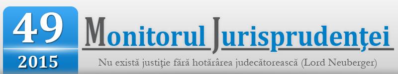 Monitorul Jurisprudentei nr. 49