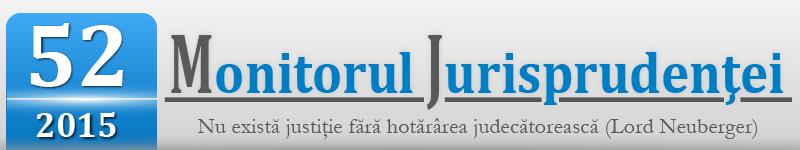 Monitorul Jurisprudentei nr. 52