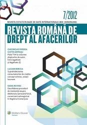 Revista Romana de Drept al Afacerilor