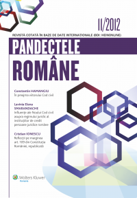 Pandectele Romane 11/2012