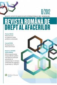 Revista Romana de Drept al Afacerilor 8