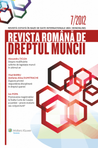 Revista Romana de Dreptul Muncii 7