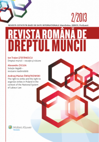 Revista Romana de Dreptul Muncii nr.2/2013
