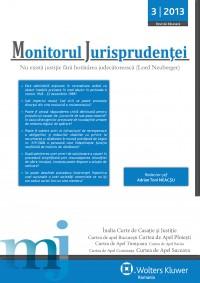 Monitorul Jurisprudentei Nr.3/2013