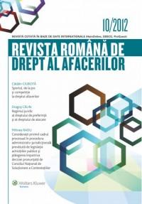 Revista Romana de drept al afacerilor 10 2012