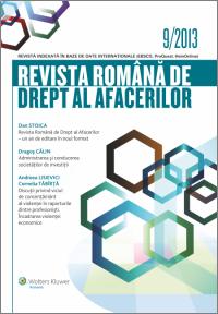 Revista Romana de Drept al Afacerilor nr.9/2013